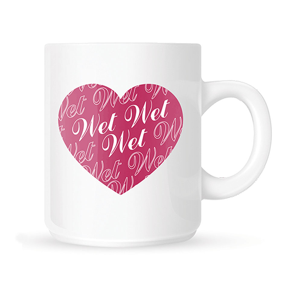 Wet Wet Wet - Heart Mug (White)