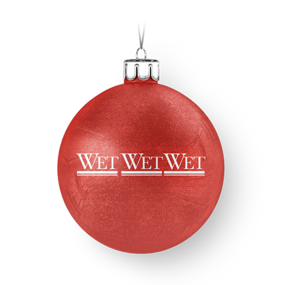 Wet Wet Wet -  Logo Red Bauble