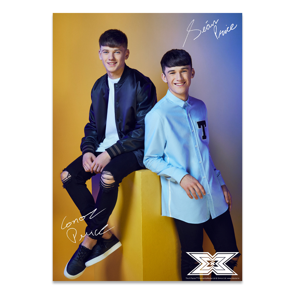The X Factor Tour - Sean & Conor Photocard 2018