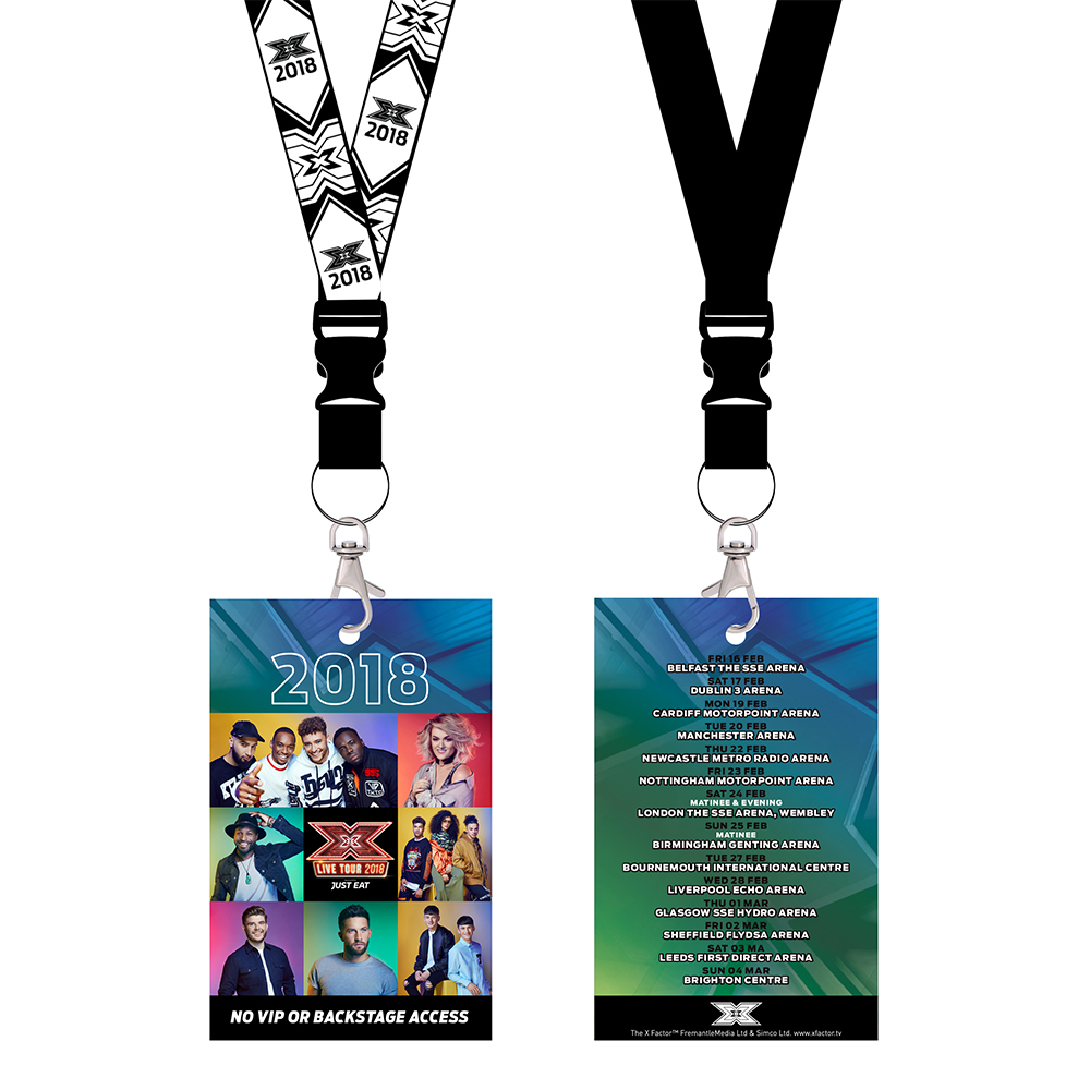 The X Factor Tour - Laminate/Lanyard 2018