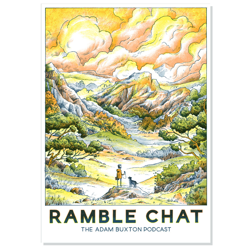 Adam Buxton Podcast - Adam Buxton Podcast 'Ramble Chat' Print (Third Edition - SIGNED)