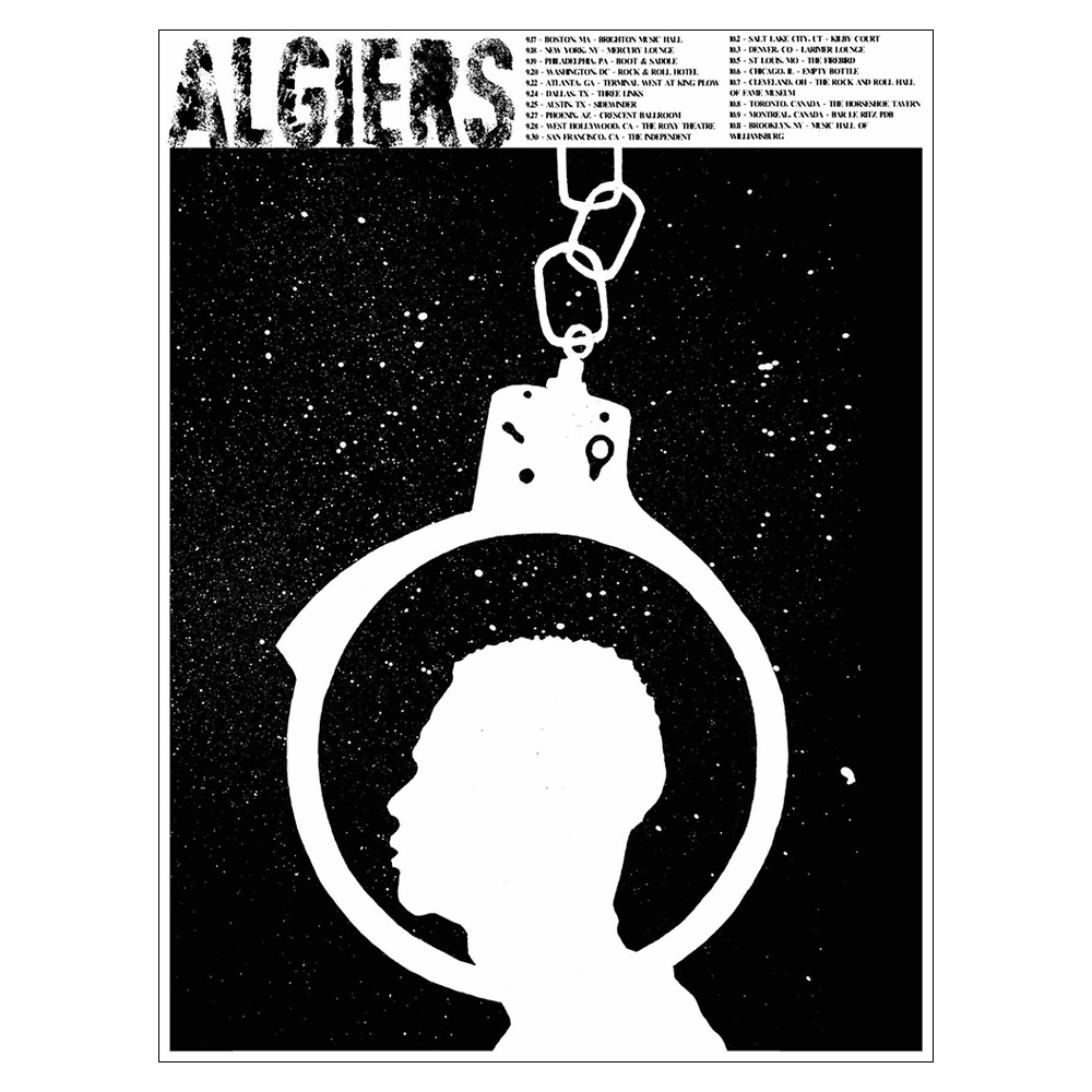 Algiers - Ryan Mowry 2015 Silk Screen US Tour