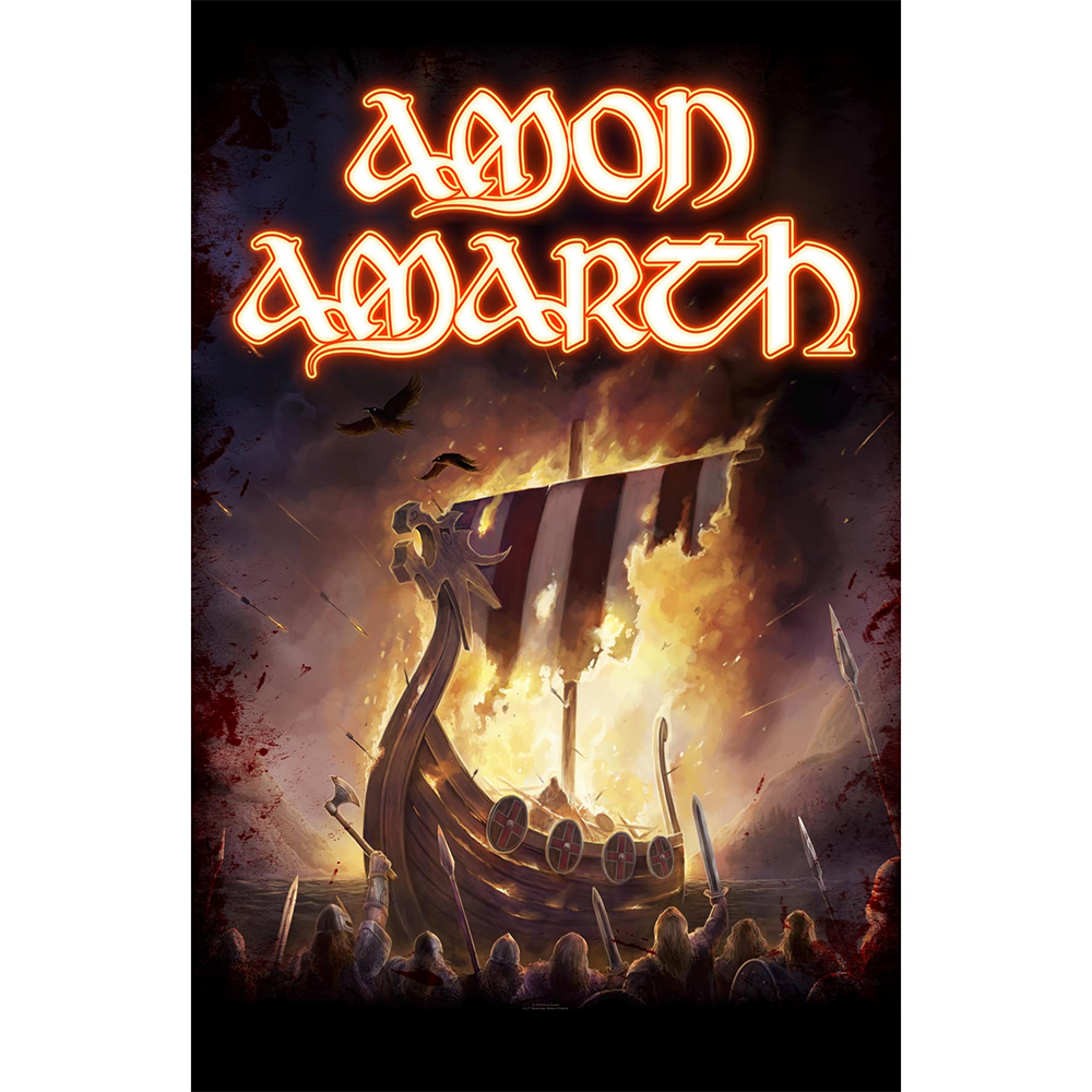 Amon Amarth - 1000 Burning Arrows (Textile Poster)