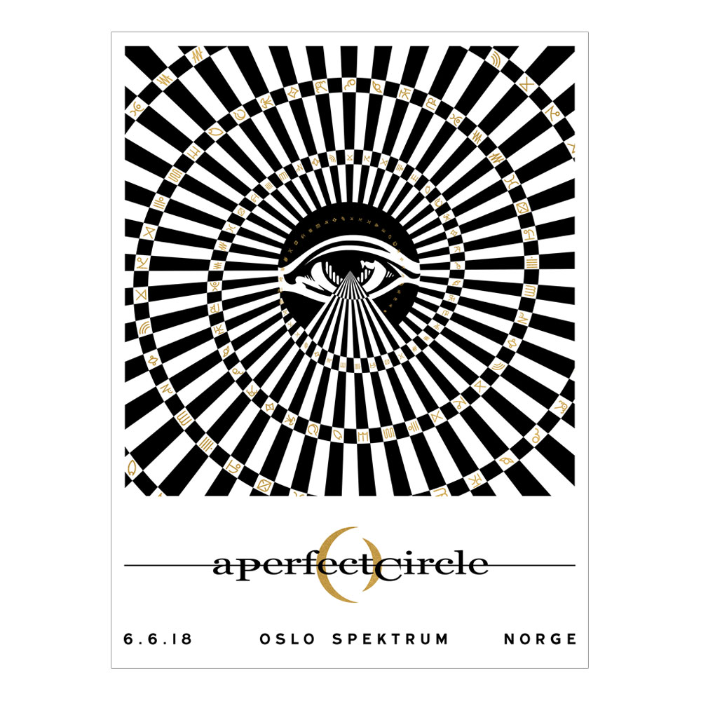A Perfect Circle - Oslo Event 6/6 [SIGNED]