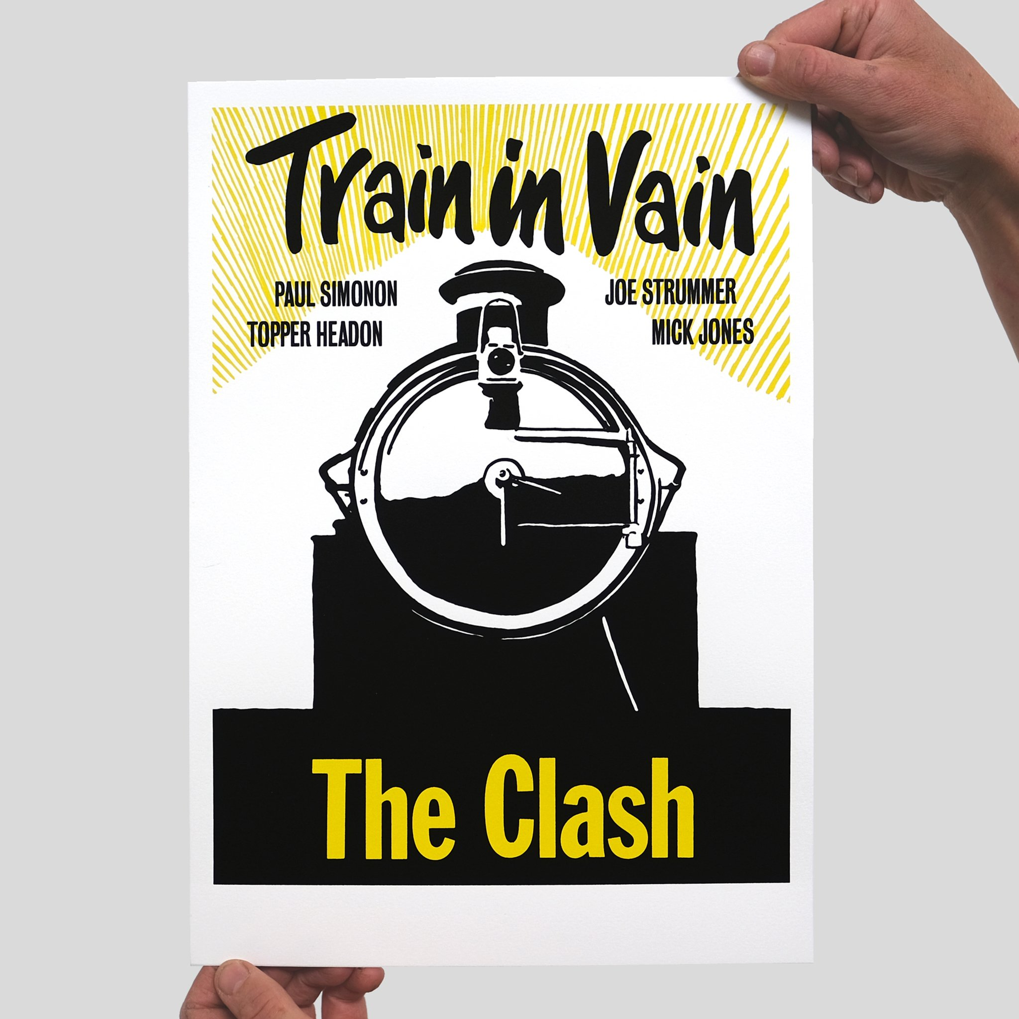 The Clash - Train In Vain Screenprint