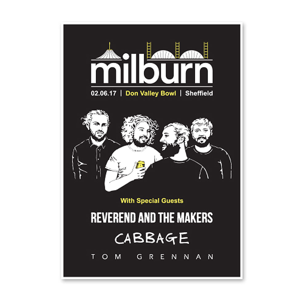 Milburn - Don Valley Bowl Numbered Poster (A3)