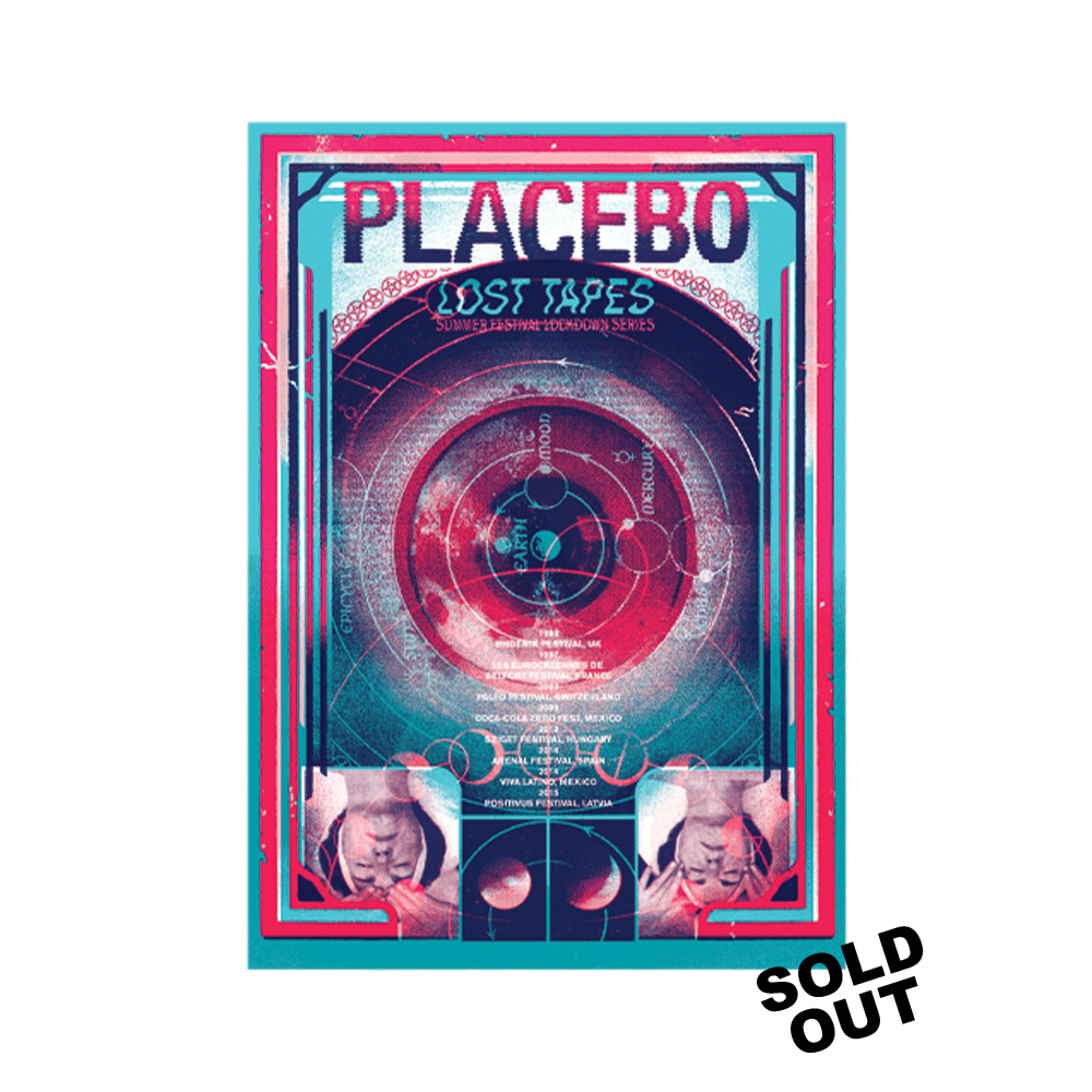 Placebo -  Lost Tapes Tour Print