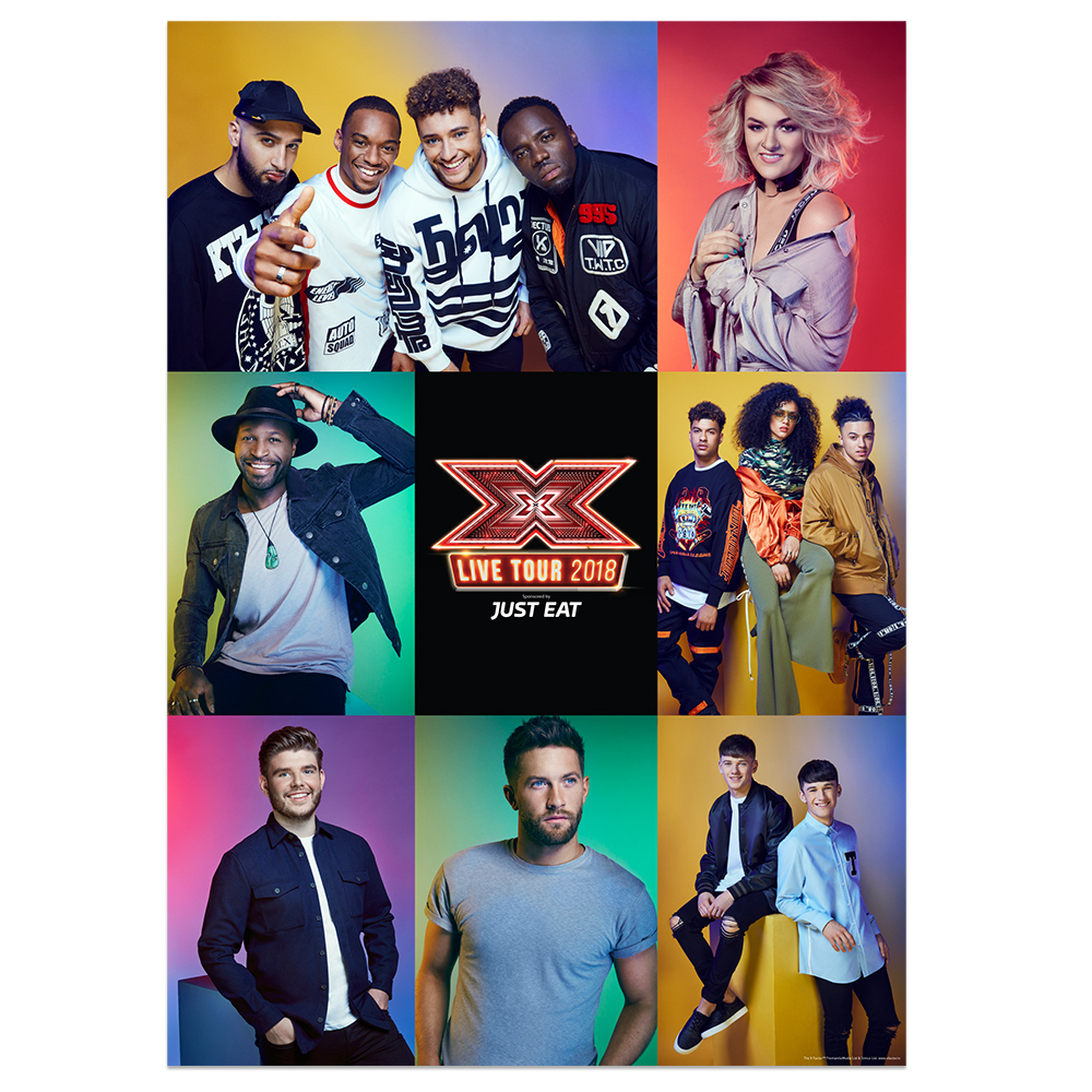 The X Factor Tour - Group Poster 2018 (A1)