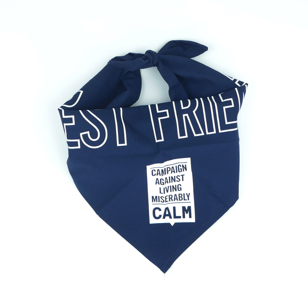 CALM - Dog Bandana (Navy)