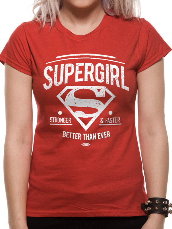 DC Comics - Stronger Faster (Women's) (Red)