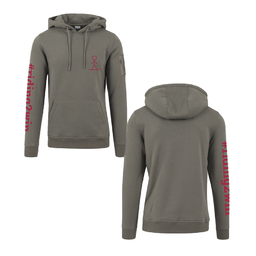 The Ellie Soutter Foundation - Zip Pocket Hoodie (Olive)