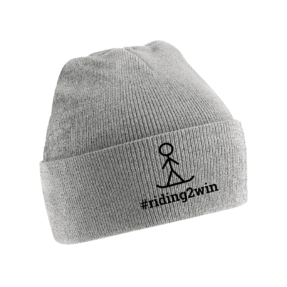 The Ellie Soutter Foundation - #Riding2Win Stickman Beanie (Grey)
