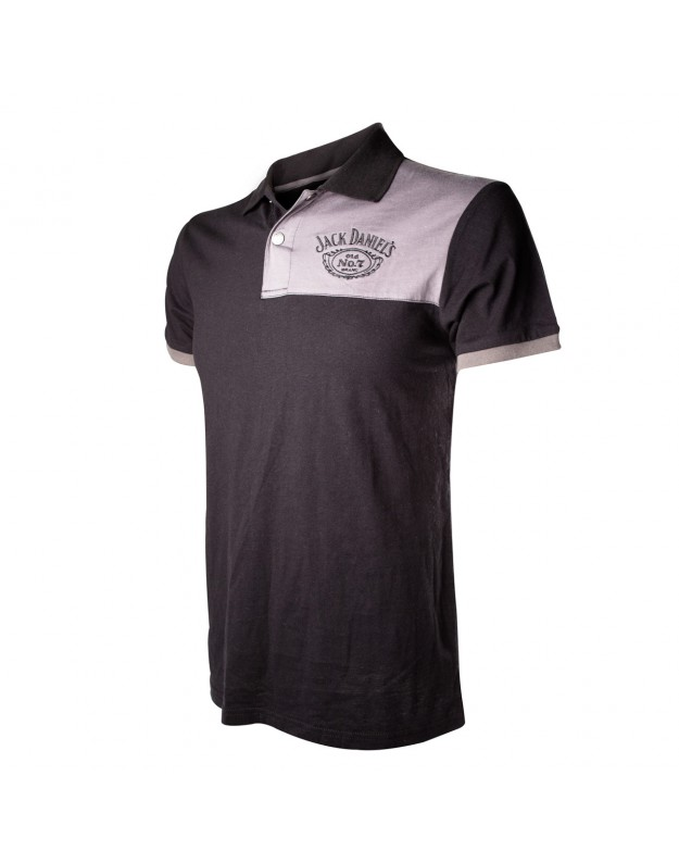 Jack Daniels - Grey Patch Polo (Black)