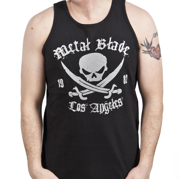 Metal Blade Records - Pirate Logo (Silver on Black) (Tank Top)