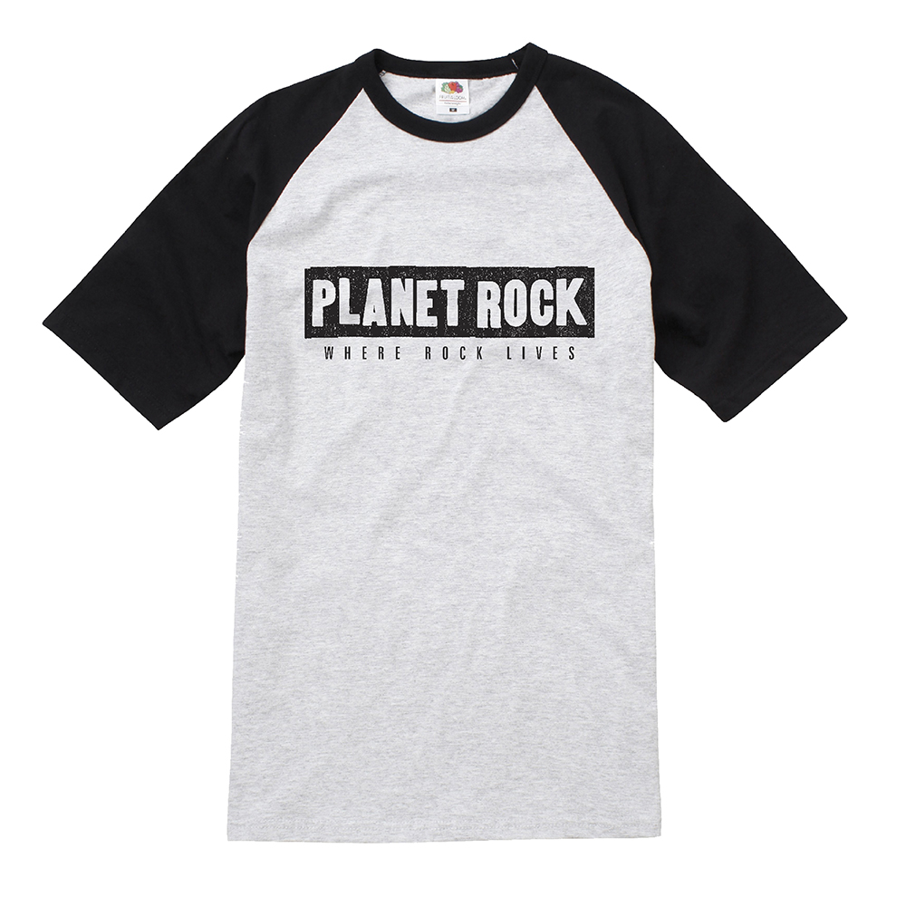 Planet Rock - Baseball Logo T Shirt