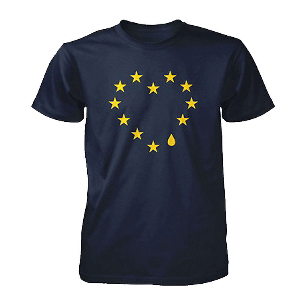 Remain Not Brexit - Teardrop Heart (Navy)