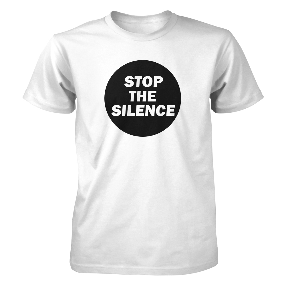 Stop The Silence - Round Logo (White)