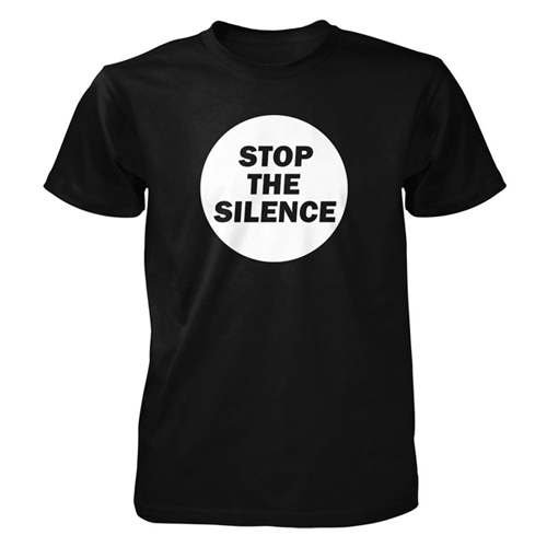 Stop The Silence - Round Logo (Black)