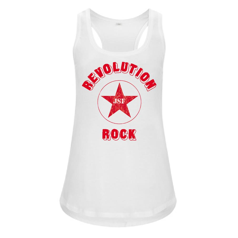 The Joe Strummer Foundation - Revolution Rock Womens Vest (White)