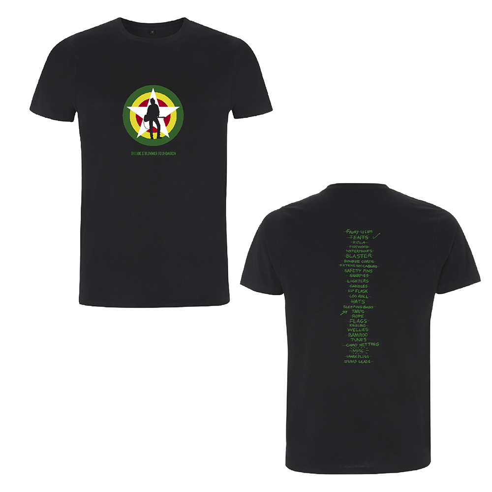 The Joe Strummer Foundation - Glastonbury Checklist (Black)