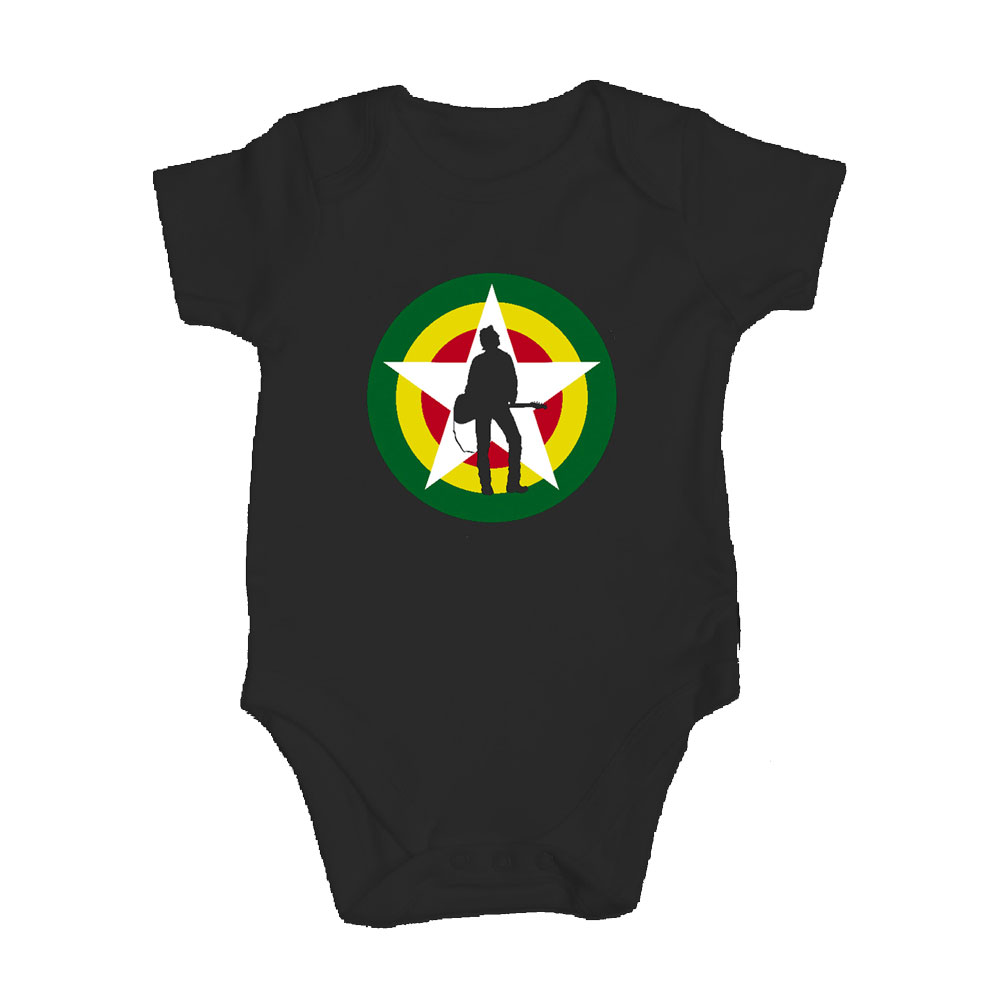 The Joe Strummer Foundation - Classic Logo Babygrow (Black)