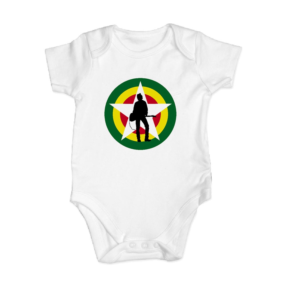 The Joe Strummer Foundation - Classic Logo Babygrow (White)