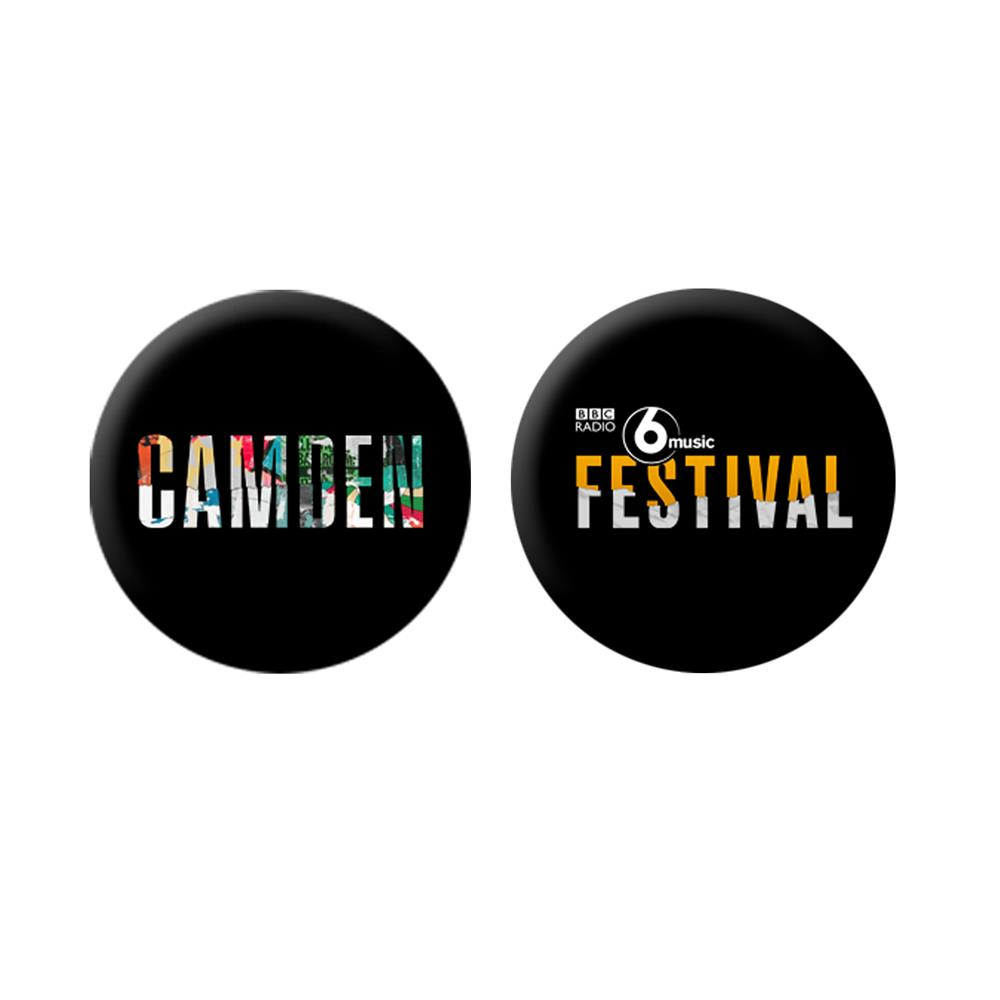 BBC 6 Music - Camden Festival Pair of Badges