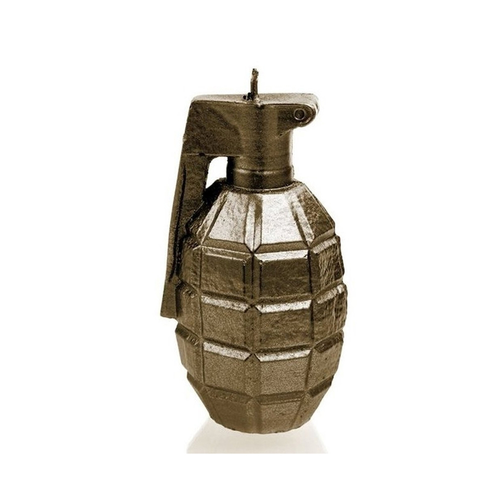 Rock and Metal Candles - Grenade Large - Brass Candle