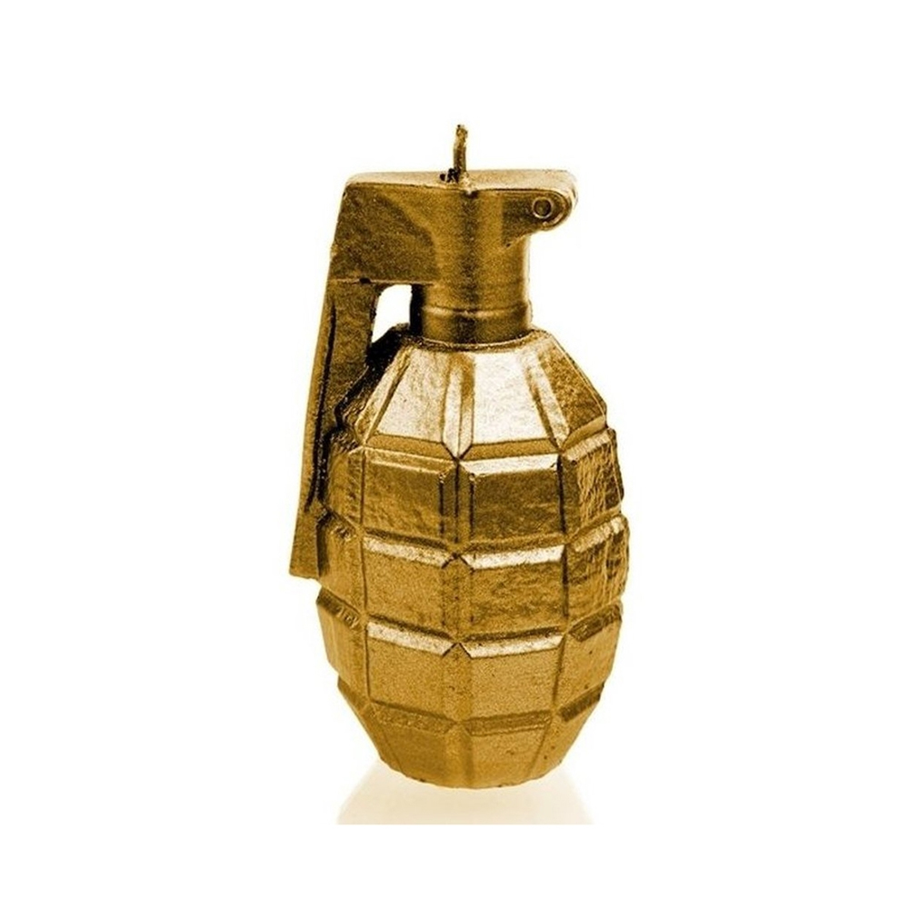 Rock and Metal Candles - Grenade Large - Gold Candle