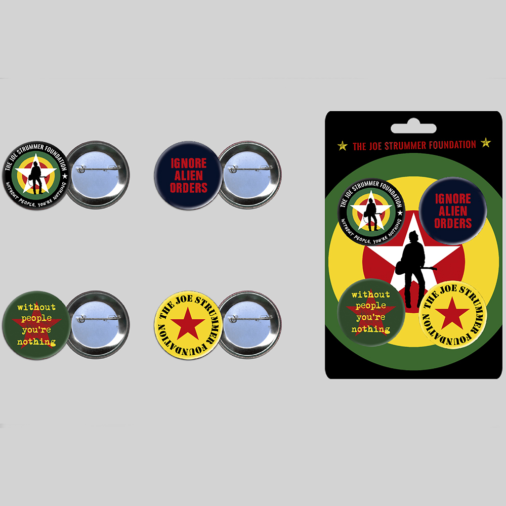 The Joe Strummer Foundation - Button Badge Set
