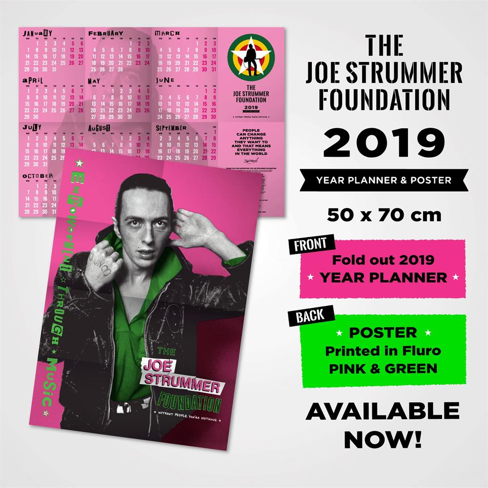 The Joe Strummer Foundation - 2019 Wall Planner Poster