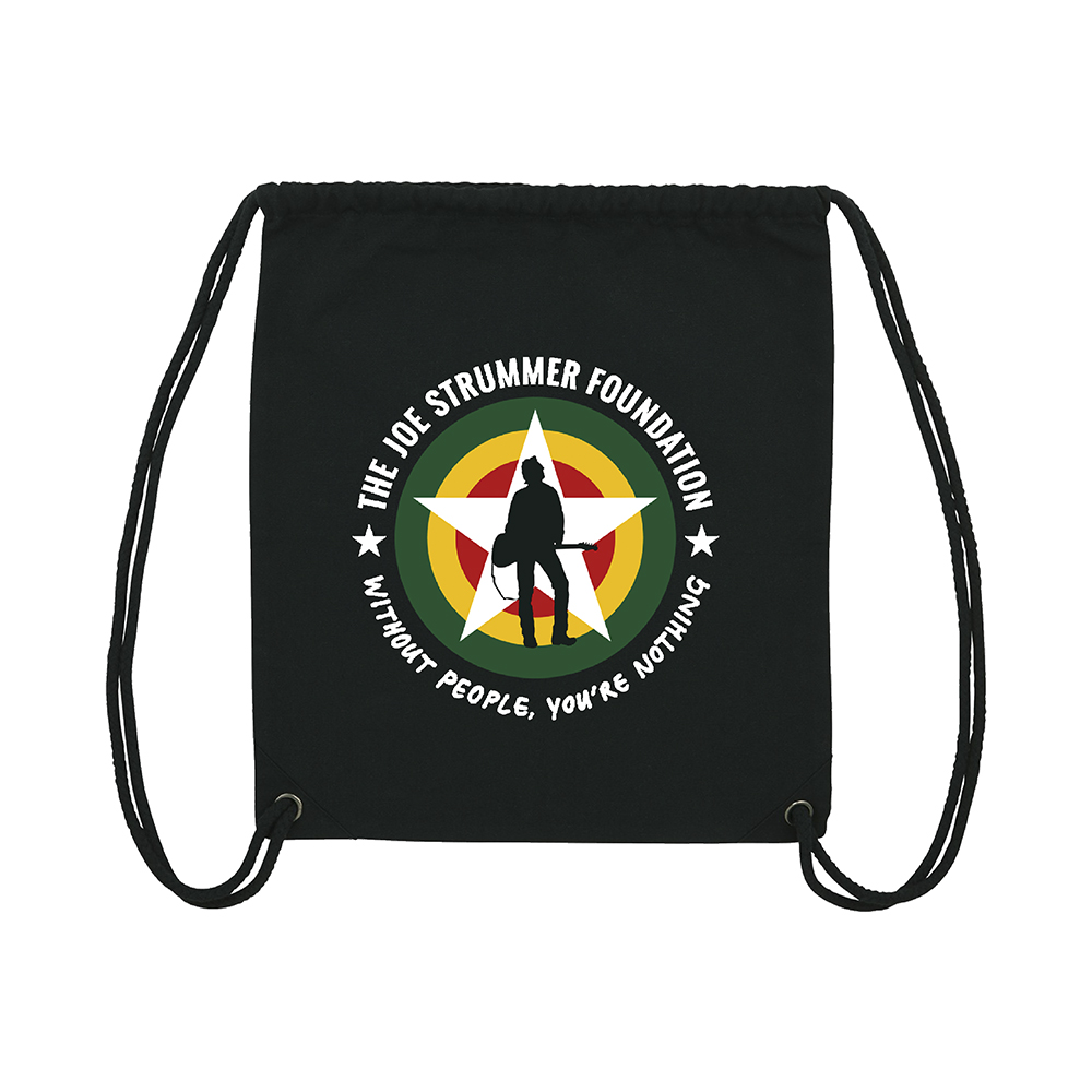 The Joe Strummer Foundation - Eco Friendly Gym Bag (Black)