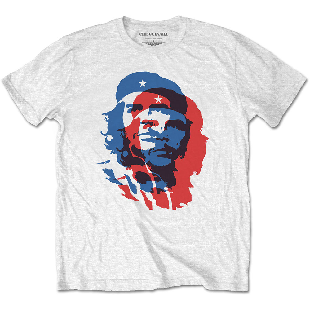 Che Guevara - Blue And Red (White)
