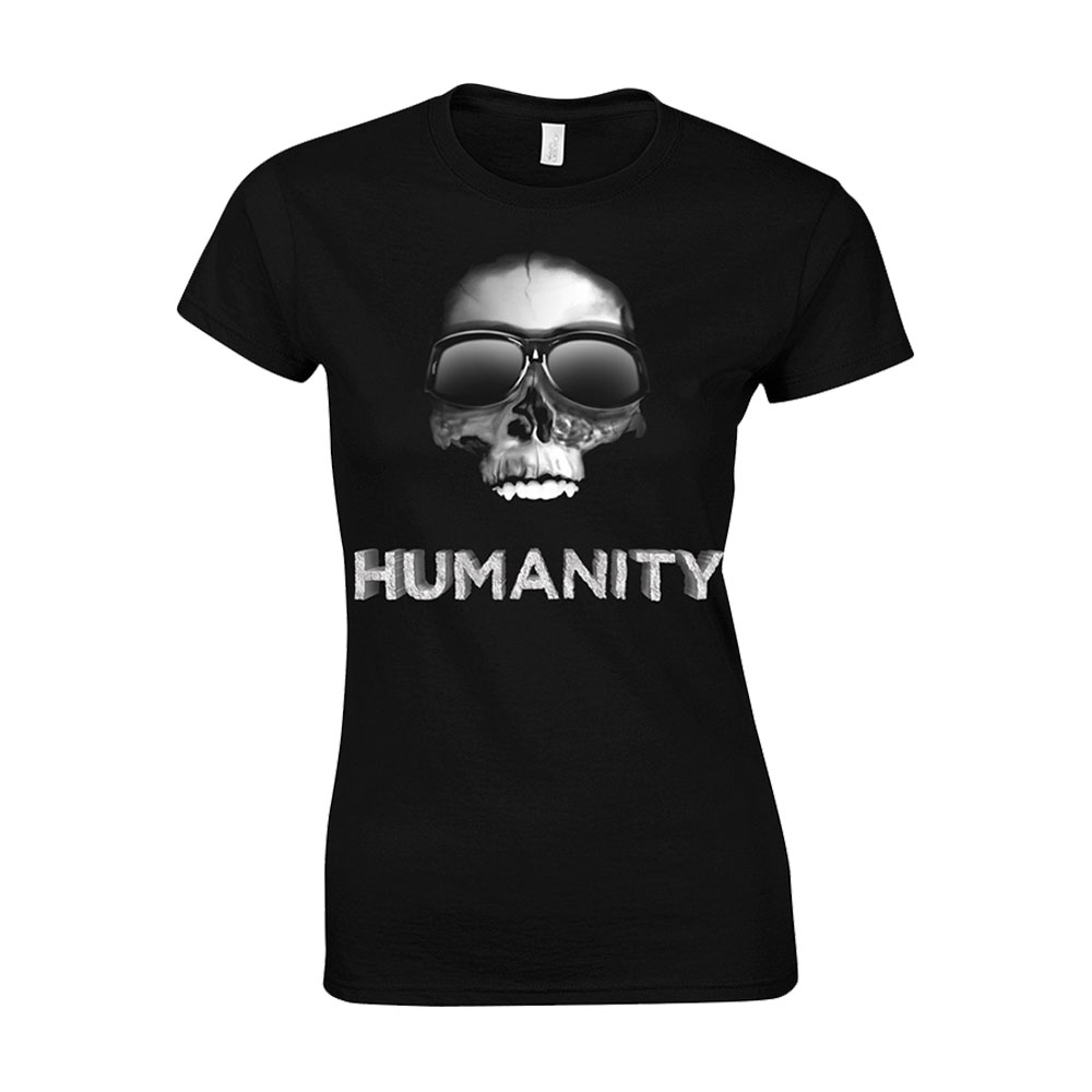 Ricky Gervais - Humanity Tour Skull Sunglasses Babydoll (Black)