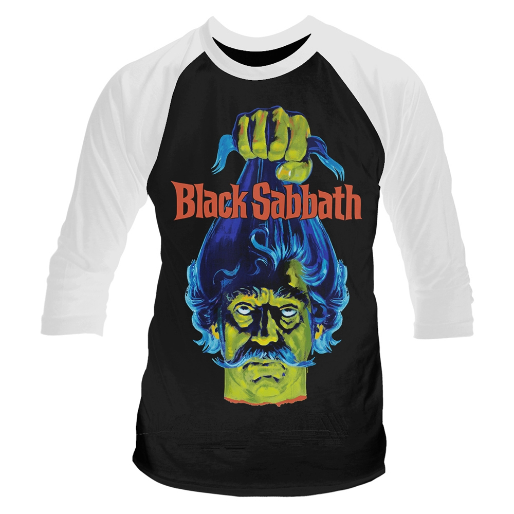 Black Sabbath Film - Plan 9 - Black Sabbath (Head) (Baseball Shirt)