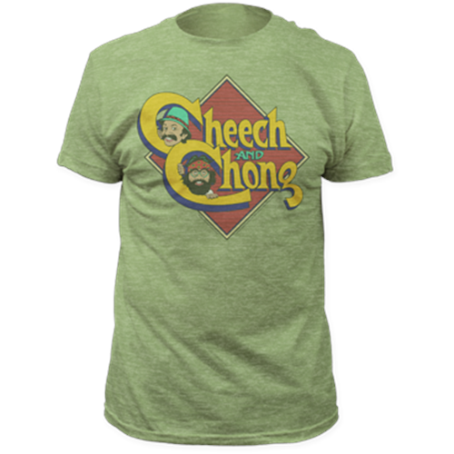 Cheech & Chong - Caricature Logo (Heather Green)
