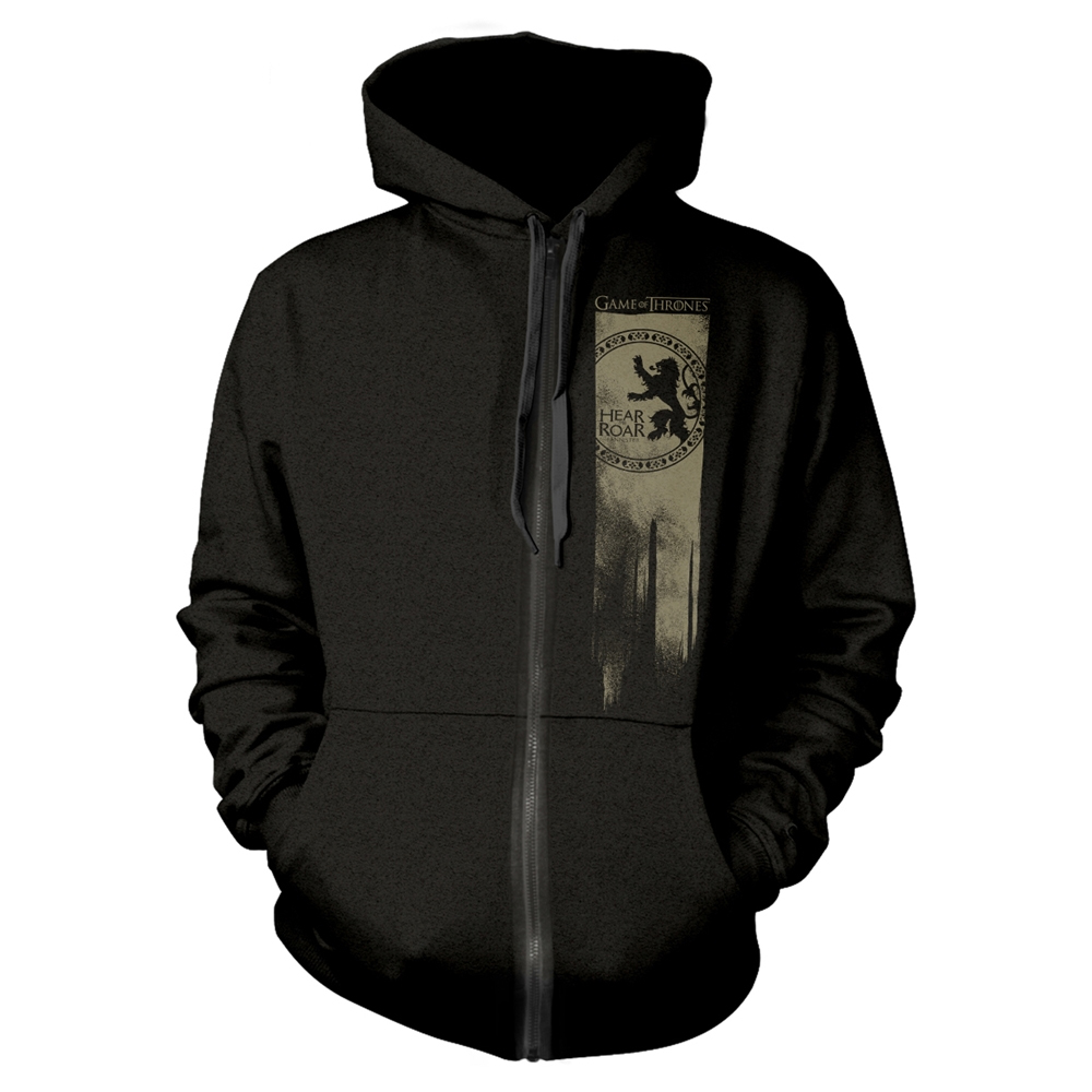 Game Of Thrones - Lannister Flag - Hear Me Roar (Zip Hoodie)