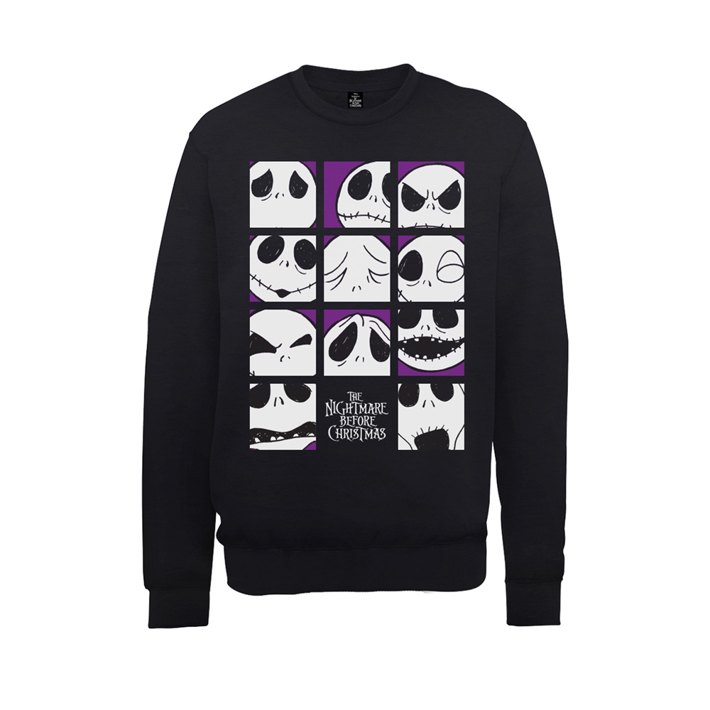 Nightmare Before Christmas - Many Faces Of Jack Squares (Sweatshirt)