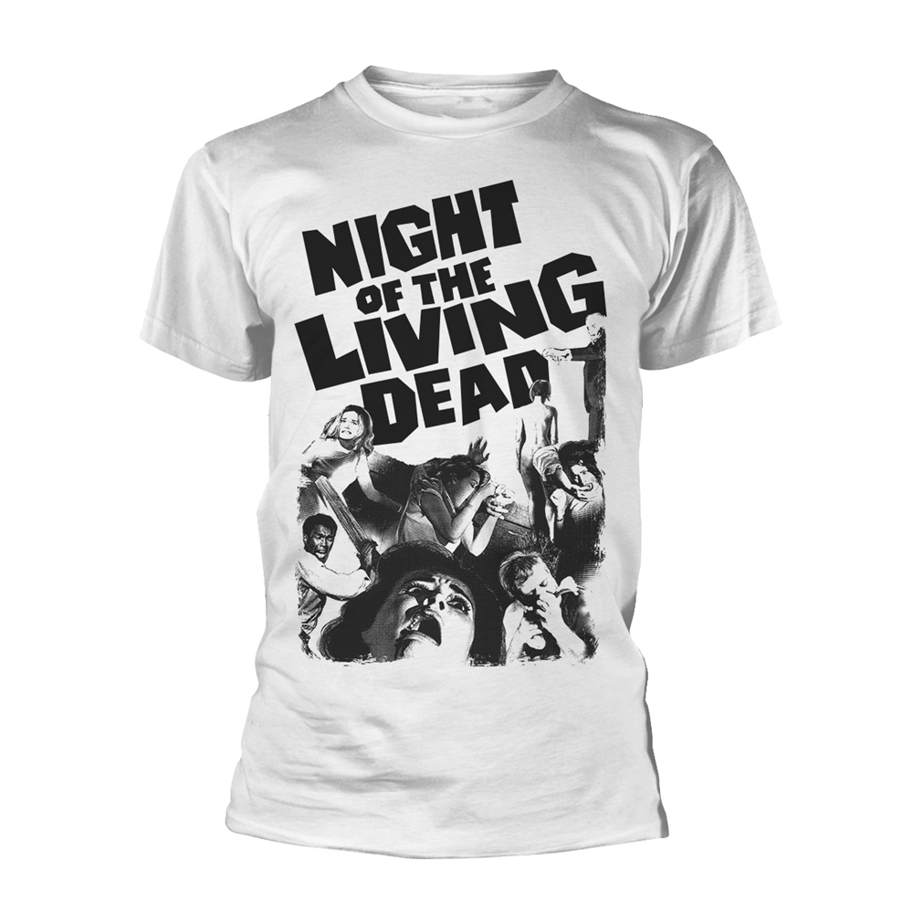 Plan 9 Movies - Night Of The Living Dead (White)