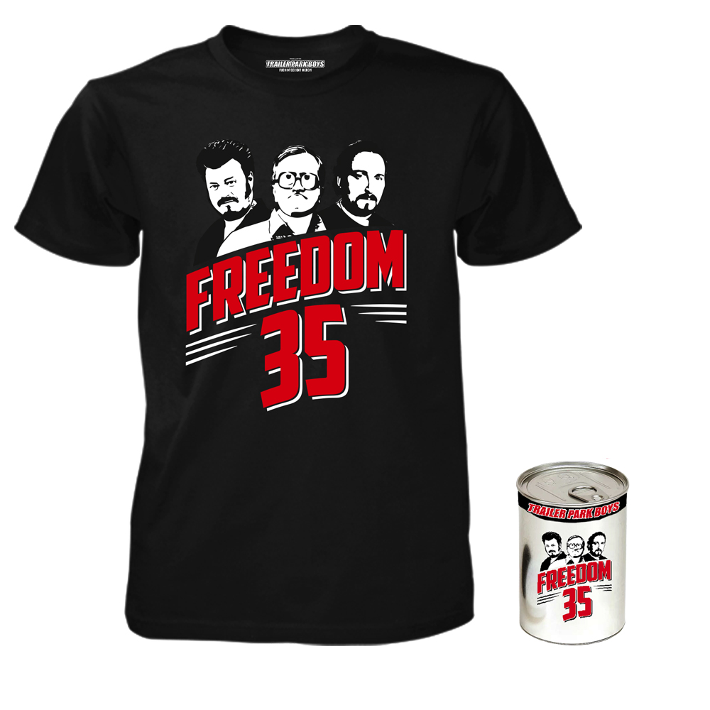 Trailer Park Boys - Freedom 35 T-Shirt in a Can
