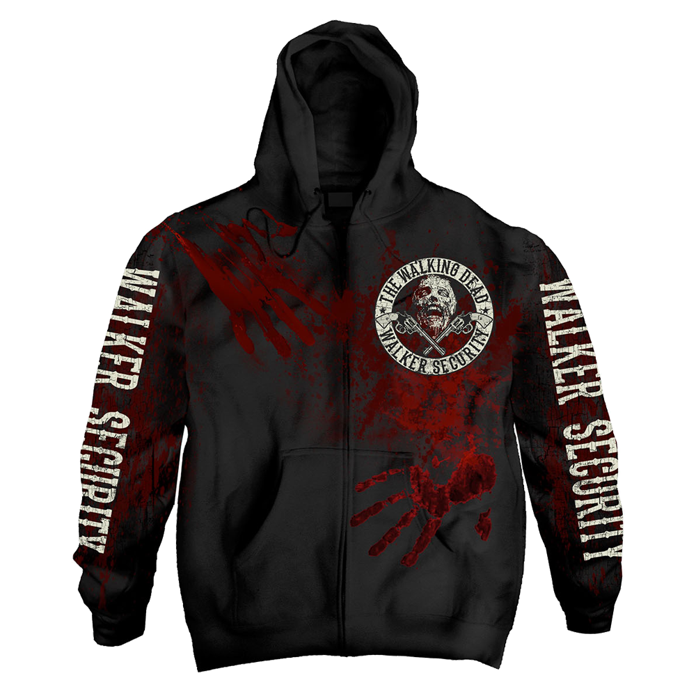 The Walking Dead - Walker Security (Zipped Hoodie)