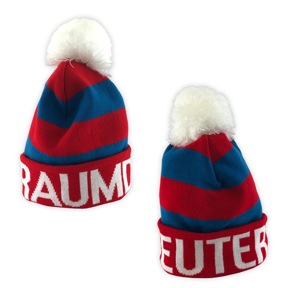 Football Manager - Raumdeuter Red & Blue Bobble Hat