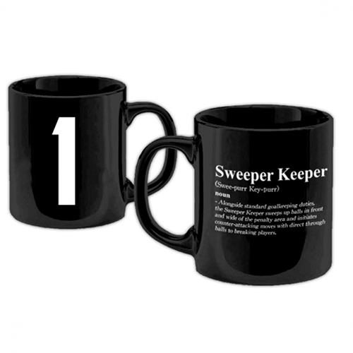 Football Manager - Sweeper Keeper Black Mug