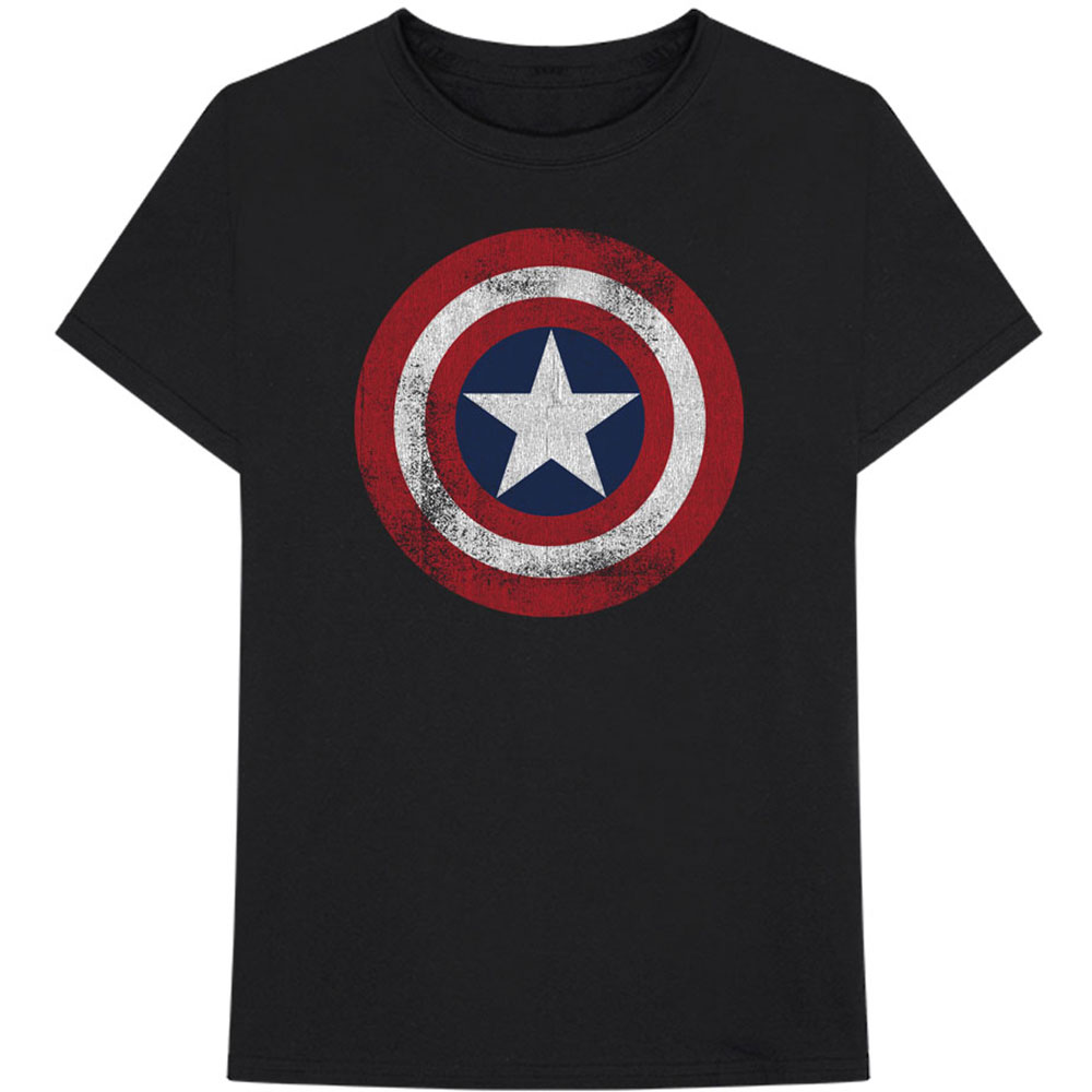 Marvel Comics - Captain America Distressed Shield (Black)