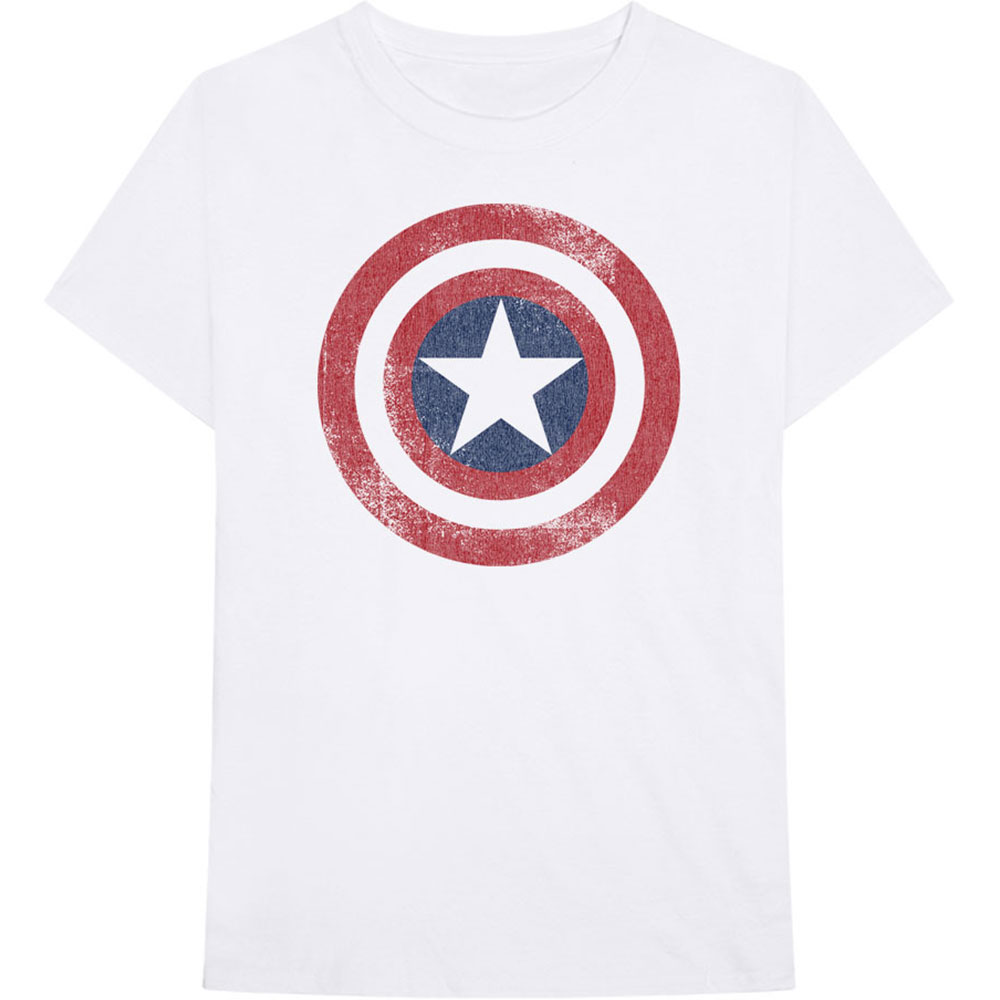 Marvel Comics - Captain America Distressed Shield (White)