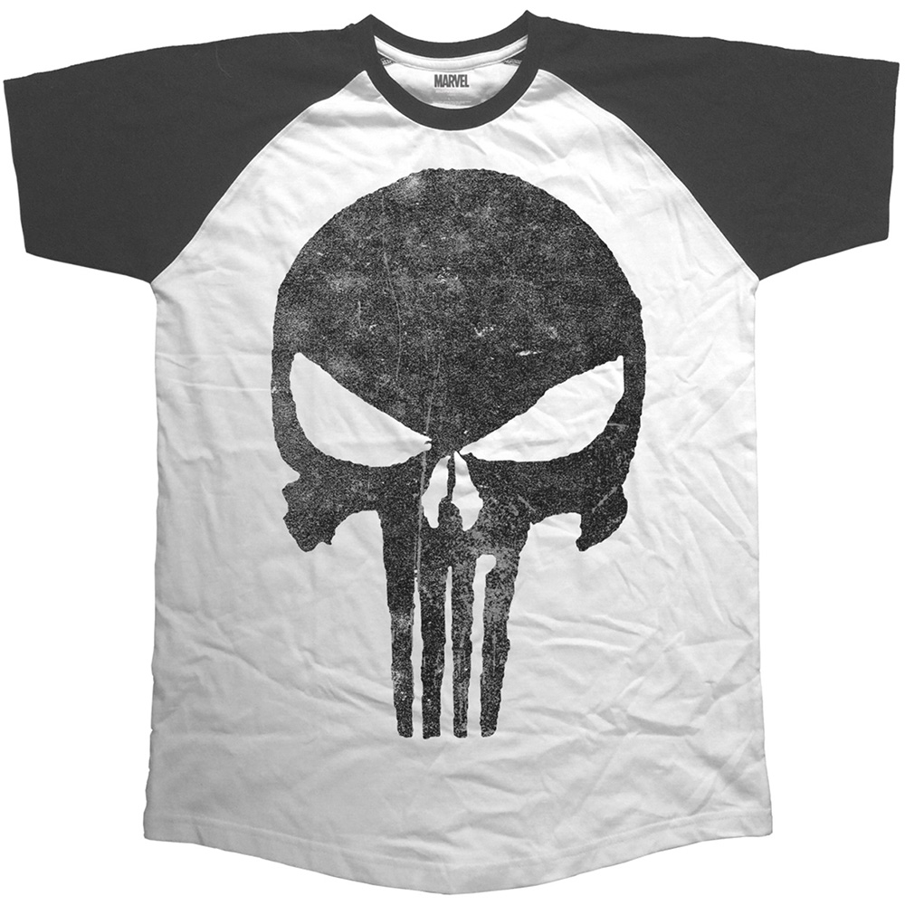 Marvel Comics - Punisher - Jagged Skull (White)