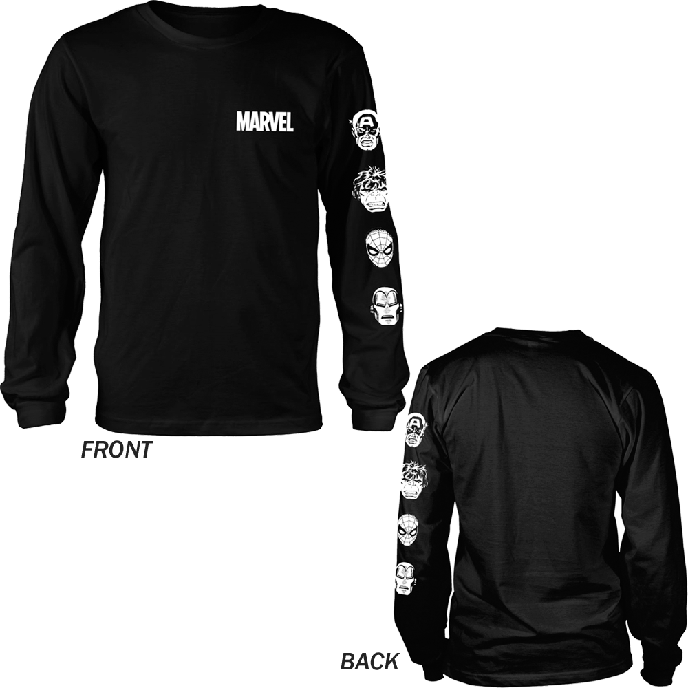Marvel Comics - Stacked Heads (Longsleeve)