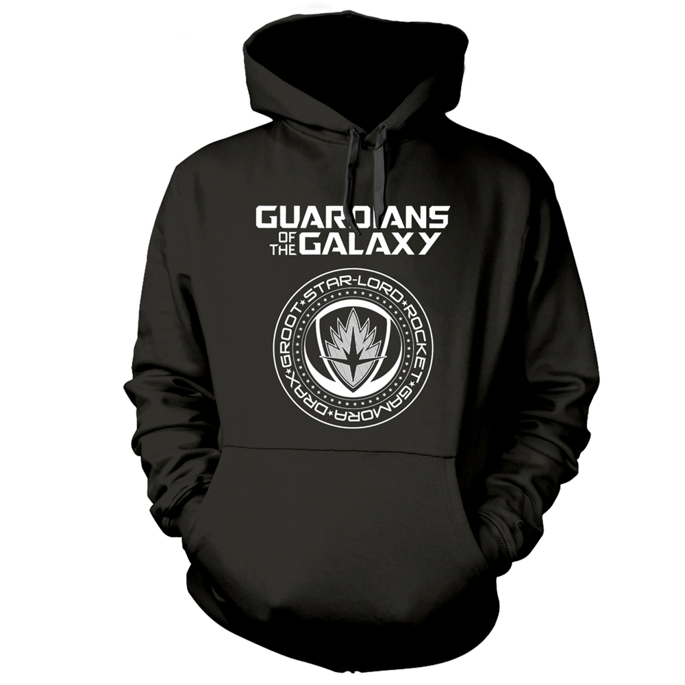 Guardians of the Galaxy Vol 2 Men/'s Drax Hoodie Large Grey//Red