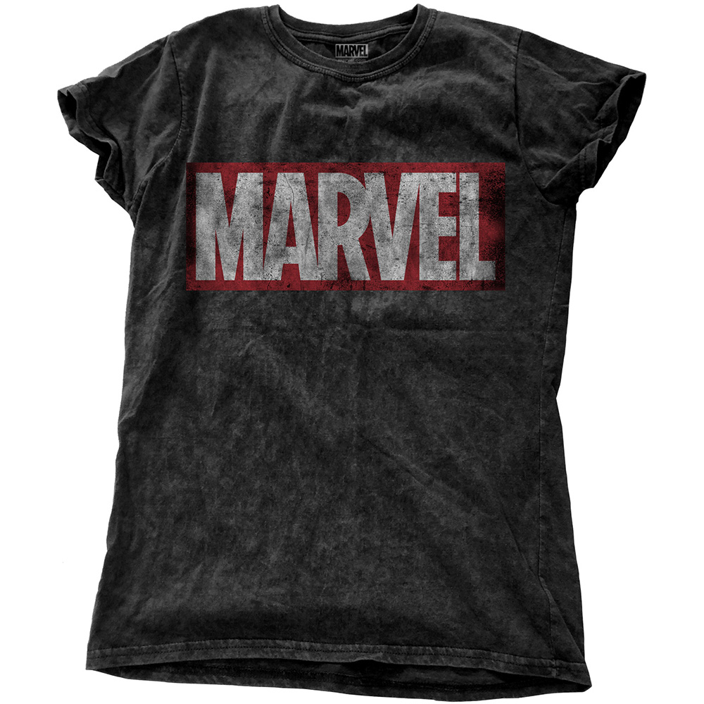 Marvel Comics - Vintage Logo (Snow-Washed) (Ladies)