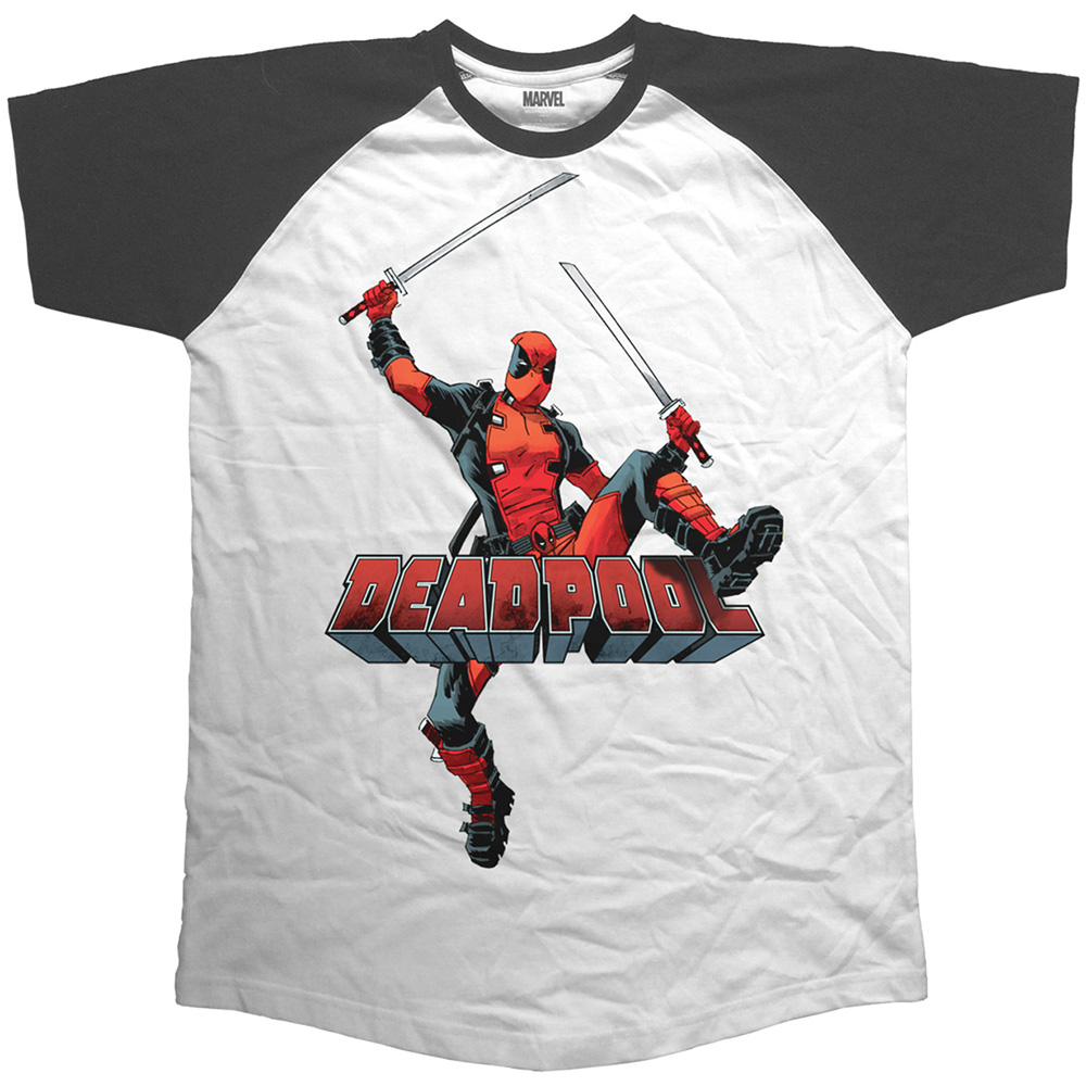 Marvel Comics - Deadpool Logo Jump (White)